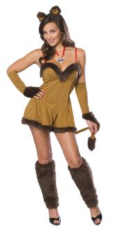 Women's Cowardly Lioness Flirty Costume - Wizard Of Oz - Adult Medium