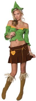 Women's Sexy Scarecrow Costume - Wizard Of Oz - Adult Medium