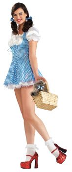 Women's Sequin Dorothy Costume - Wizard Of Oz - Adult Medium