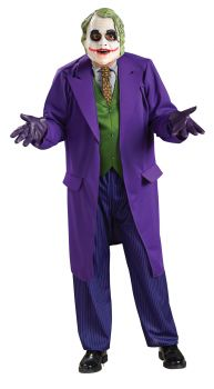 Men's Deluxe Joker Costume - Dark Knight Trilogy - Adult OSFM