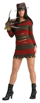 Women's Sexy Miss Freddy Krueger Costume - Adult Small