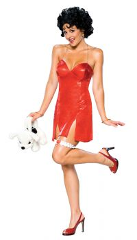 Women's Deluxe Betty Boop Short Dress - Adult Medium