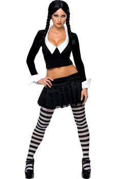Women's Wednesday Costume - The Addams Family - Adult Medium