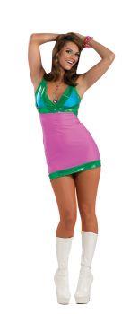 Women's Go Go Bright Costume - Adult OSFM