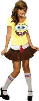 Women's Sponge Babe Costume - Spongebob Squareparts - Adult Medium