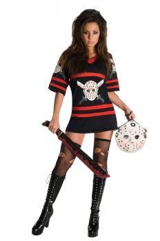 Women's Miss Voorhees Costume - Friday The 13th - Adult Medium