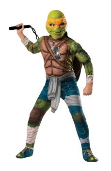 Boy's Michelangelo Costume - Ninja Turtles - Child Large