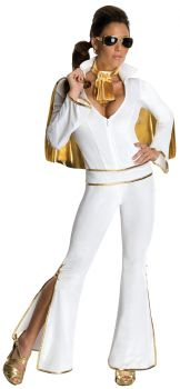 Women's Sexy Elvis Presley Costume - Adult Small