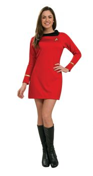 Women's Deluxe Red Star Trek Dress - Adult Medium