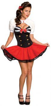 Women's Naval Pinup Costume - Adult Medium