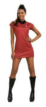 Women's Star Trek Movie Red Dress - Adult Small