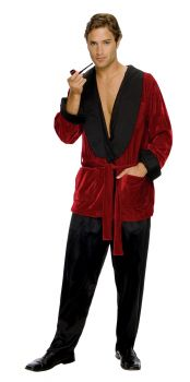 Men's Hugh Hefner Smoking Jacket - Adult OSFM