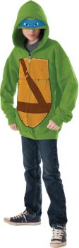 Boy's Leonardo Hoodie Costume - Ninja Turtles - Child Large