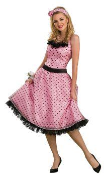 Women's Polka Dot Prom Costume - Adult Medium