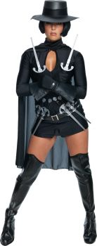 Women's V For Vendetta Sexy Costume - Adult Small