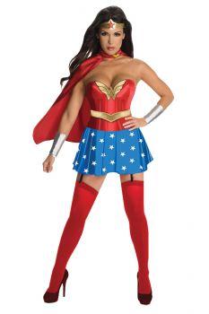 Women's Deluxe Wonder Woman Corset Costume - Adult Large