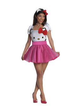 Women's Pink Hello Kitty Costume - Adult X-Small