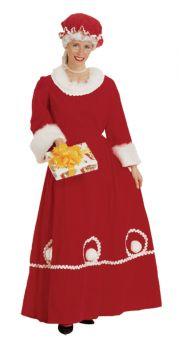 Long Velvet Mrs. Klaus Dress - Adult Large