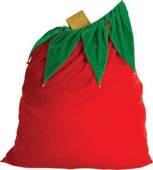 Santa Toy Bag Velvet Bell