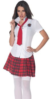 Fitted School Girl Shirt - Adult Large