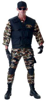 Men's Deluxe Seal Team Costume - Adult OSFM