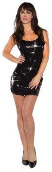 Women's Short Sequin Dress - Adult Large
