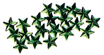 Sew On Stars 20 Pak Green