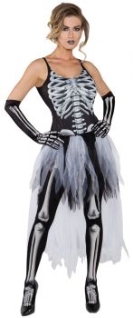 Women's Sexy Skeleton Costume - Adult Small