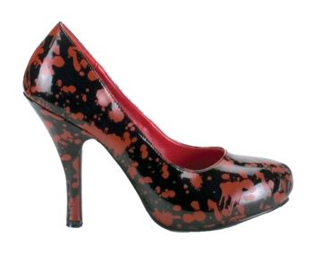 Women's Bloody High-Heel Shoe - Black & Red - Women's Shoe 7