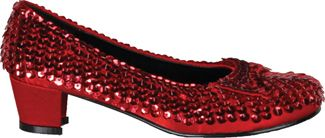 Girl's Sequin Red Shoes - Red - Child Shoe L (2 - 3)