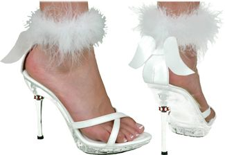 Women's Sexy White Angel Shoe - White - Women's Shoe S (5 - 6)