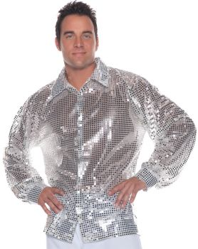 Silver Sequin Shirt Adult One