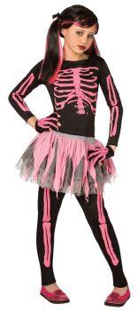 Skeleton Punk Pink Child 8-10