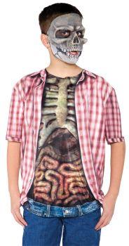 Skeleton W Guts Shirt Child Lg