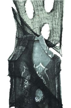 12' X 2' Loose Weave Freaky Fabric - Black
