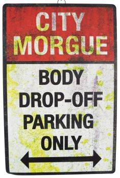 Body Drop Off Parking' Sign