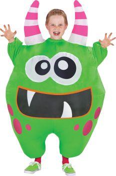 Child's Scareblown Inflatable Costume - Green - Child OSFM