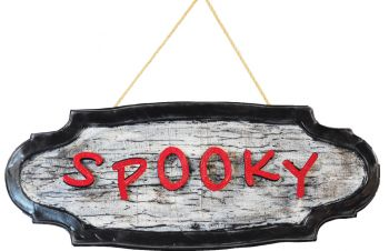 SPOOKY ANIMATED SIGN