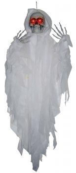 4' Light-up Hanging Reaper - White