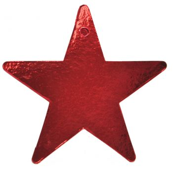 Star Foil 5 Inch Red