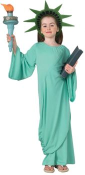 Girl's Statue Of Liberty Costume - Child Medium
