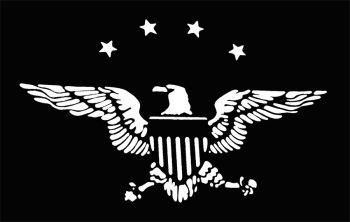 Stencil Eagle Stars Stainls
