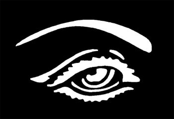 Stencil Eye Brass