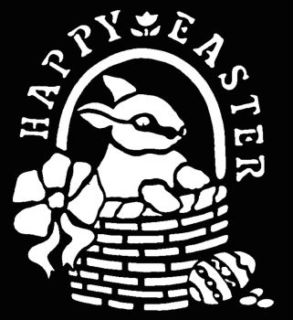 Stencil Happy Easter Brass