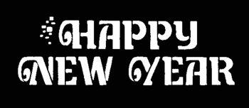 Stencil Happy New Yr Stainl