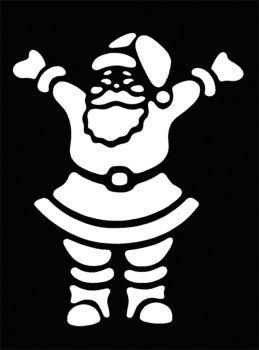 Stencil Happy Santa Brass