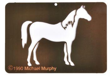 Stencil Horse Brass