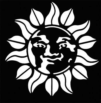 Stencil Sun Brass