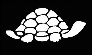 Stencil Turtle Brass