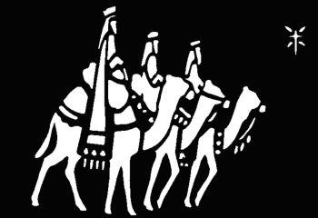 Stencil Wisemen Brass